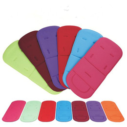 Carrinho colorido on-line-New Baby Stroller Seat Cushion Pushchair Chair Pram Car Colorful Soft Mattresses Carriages Seat Pad Stroller Mat Accessories