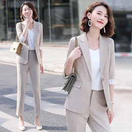 Vestidos de rosa usa online-New Pink Suit Suit Female President High-end Business Professional Wear Temperament Goddess Fan Small Dress Work Clothes1