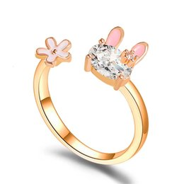 Adjustable Strawberry Ring Open Ring Lovely Cute Alloy Girls Gift Fruit Band O3