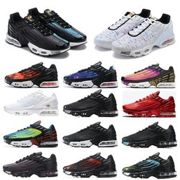 Corridori blu royal online-2020 TN Plus 3 uomini Donne scarpe da corsa Triple Bianco nero Iridescente Crimson Red Laser Blu Deep Royal Mens Trainer Strisciatori Sneakers Sneakers Corridori