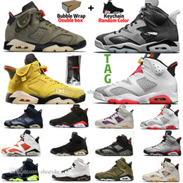2021 bugs lapins chaussures 6 6s Travis Scotts Tech Chrome Mens Basketball Shoes Hare UNC Black Flint Black Cat Infrared Bred 3M Reflective Bugs Bunny Men Sports promotion bugs lapins chaussures