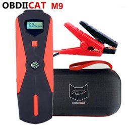 carregador m9 Desconto OBDIICAT-M9 emergência do carro de emergência Starter Mini Portable Power Bank Carregador 12V Dispositivo de partida para carros PetrolDiesel1