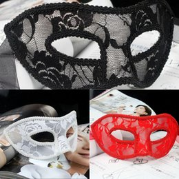 Bianco elegante mascherina del partito online-Donne di Halloween Party Sexy Elegant Masks Panno traslucido Masquerade Mezza Face Masks Bar Club Show Carnevale Masks Black White ZQ