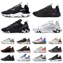 Синие кроссовки онлайн-Nike Tour Yellow react element 87 55 mens running shoes men women Orange Peel Sail triple black white Taped Seams Blue trainers sports sneakers