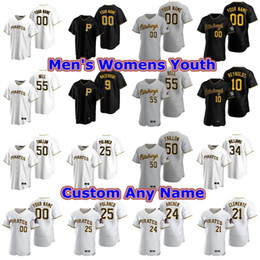 Die kundenspezifischen hemden der frauen online-Baseball-Shirts für Frauen Trevor Williams Jersey Jameson Taillon Bill Mazeroski Josh Harrison Barry Bonds Will Craig Oneil Cruz Individuelle Stitche