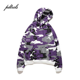 2021 camo rosado con capucha 49 Hot Camo Hoodies Men Hip Hop Camouflage Pullover Sweatshirts Male Fashion Casual Hoodies Steetwear Red Purple Grey Pink camo rosado con capucha baratos
