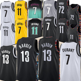 Trikot uniform basketball online-Nba BROOKLYN NETS 7 Kevin Durant 11 Kyrie Irving basketball 72 Black Biggie 13 James Harden nba new basketball jerseys high quality