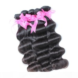 Extensiones de cabello humano indio remi online-10pcs lot Factory Cheap Wholesale Mongolian Unprocessed Remi Hair Greatremy 100% Unprocessed Human Hair Weave Wavy Indian Hair Extensions