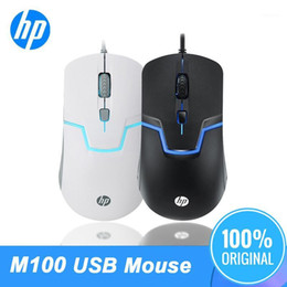 2021 laptop de jogo branco Original M100 1600DPI Rato USB Laptop Optical PC General Cabo Back Light Gaming BlackWhite Color Color Professional Mice1