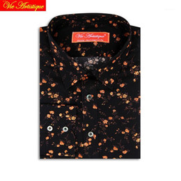 shirts di affari del cotone donne Sconti Camicie Casual Donne personalizzate su misura Bairsuit1 Uomo britannico Bespoke Blusa matrimonio Business Business Giallo Floral Cotton Black Liberty Dress FNWCB