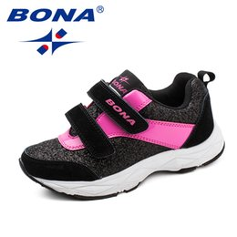 Zapatos de estilo ancho online-Bona New Fashion Style Niños Zapatos casuales Hook Loop Girls Shoes Synthetic Boys Zapatos Zapatillas de moda al aire libre SHIOPPIN LJ201203