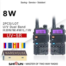 baofeng uv 5r uhf vhf Desconto 1 / 2PCS Baofeng Radio UV-5R 8W Amador portátil Walkie Talkie Pofung UV-5R VHF / UHF Radio Dual Band Two Way UV 5R CB
