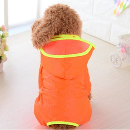 Faser sauber online-Nylon wasserdichte Hundekleidung Regenmantel Kleine mittelgroße Dunde Hut Hut Hoodies Ponchos Pet Zubehör Raincoats Easy Clean 17 5SL F2