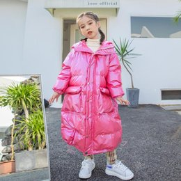 Подростковые стили одежды онлайн-YourSeason Teen Girls 2021 Winter 90% White Duck Down Coats Korean Style Fashion Kids Girl Warm Long Jackets Casual Clothing