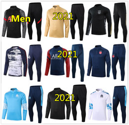 2020 entrenando trajes para correr 20 21 chándal de fútbol psg ajax Marseille chándal Hombre 2020 2021 chandal real madrid chandal futbol soccer tracksuit football training entrenando trajes para correr baratos