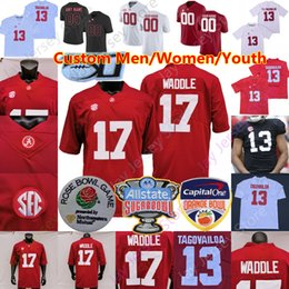 calcio alabama Sconti Personalizzato Alabama del calcio Jersey Najee Harris Devonta Smith Jaylen Waddle Robinson Mac Jones Trey Sanders Metchie III Bryce giovane Surtain II