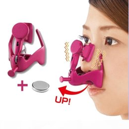 2021 massagem nasal Vibro elétrica Nose Nose Massagem Clipe Up Lifting Nose Shaping Shaper Ponte endireita Massager Com bateria de lítio massagem nasal barato