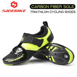 Sapatos estrada sidebike on-line-20 Sidebike Triathlon Cycling Road Shoes 015 Sapatos de Fibra de Carbono Profissional Atlético Estrada Bicicleta Mens Ultralight Respirável1