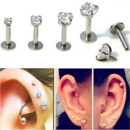 16Ga Stainless Steel Tree Of Life Barbell Helix Earrings Ear Stud Piercing Hot