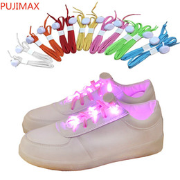 Acenda sapatos hip hop on-line-LED piscando iluminado cadarços Nylon Hip Hop Shoelaces Iluminação Flash Light Up Sports Skating LED Sapato Laços Shoelaces Braço / Perna Bandas