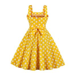robe polka pin-up Promotion Women's Vintage Robes 50-S-60 Rétro Rockabilly Rocking Sexy Pinup Sexy Robes Summish Robes Polka Dot Robes Plus Taille SFSX