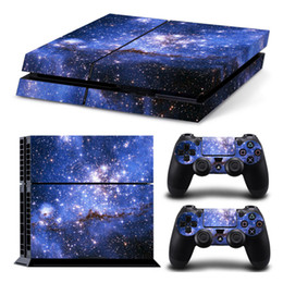 pelle adesivo galaxy Sconti Galaxy Star Vinyl Skin Sticker Cover per Sony PS4 Console con 2 controller Decalcomania per PlayStation 4 per DualShock 4 Gamepad W1219