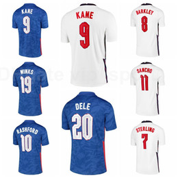 T-shirt pierres en Ligne-Hommes Soccer Rashford Jersey Kane Sterling Sancho Stones Winks Mount Chilwell Trippier Maguire Maguire Oxlade-ChamberLain Shirt Chemises de football Y-G-L