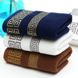 Gli asciugamani del produttore online-Cotton towel towels manufacturers wholesale foreign trade men's dark towel advertising gift gift box set logo customization