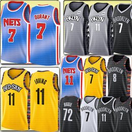 2020 kyrie preto Cheap Irving jersey universitário NCAA Kevin Durant 7 jersey New 11 Kyrie de Homens Spencer 8 Dinwiddie Preto 72 Biggie Basketball Jerseys