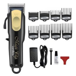 Afeitadora de pelo online-8148 Magic Metal Hair Clipper Razor eléctrico Hombres Steel Head Shaver Pelo Trimmer Gold Red UE EE. UU.