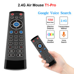 Telecomando per tv sony online-T1 Pro Voice Air Mouse Telecomando per Android TV Box Projector 2.4G Telecomando per tastiera wireless per LG Sony X96 H96 Mini