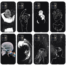 Samsung paar fall online-I-phone 12 case für iphone 12 mini pro maximal 11 space astronaut paar sternenhimmel abdeckung shellzelle 11 moblie phone cases