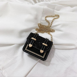 2021 bolso laqueado  Mini bag bag women 2021 new Korean version versatile Sequin lacquer leather small square chain single