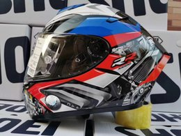 Moto completo casco azzurro online-Full Face X14 BM-WW Blue Color Casco Casco Moto Guida Motocross Racing Motobike