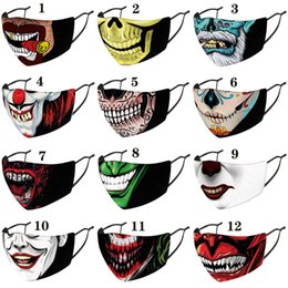 masques de clown de noël Promotion Halloween Christmas clown face mask designer fashion face masks printed facemask dustproof windproof Party Masks adult with PM2.5 filters