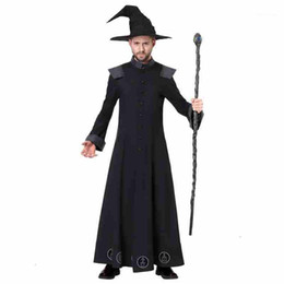 2021 pipistrelli anime Grown Magic Costume Mantle Mantle TopCoat Cosplay Pentagram Costumi Cappello Cappello Berretti Gallo per uomo Halloween Holiday1