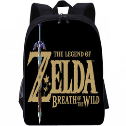 borsa zelda leggenda Sconti New Fashion The Legend of Zelda Kids School Bag Studente Zaino Backpack Borse Borse College Bag Modelli Ragazzi Ragazze Bambini T200709