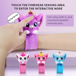 juguetes venda de la mano Rebajas Hot Funny Kids Toys Electronic Pet Intelligent Cat Hand Band Brazy Pulsera Interactive Diálogo Niños Educativo Juguetes Regalo 1020