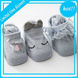 Calzini nuovi del corpo online-Primavera Estate New Baby Girl e Boy Edge Body Boog Cato Bambini Flower Socks