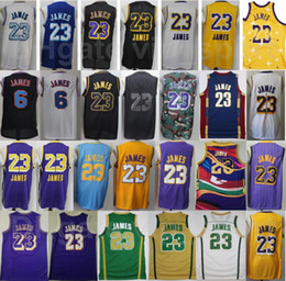 2021 camisa lebron branco Homens Lebron 23 James Jersey Jersey Vintage Tune Squad Looney Tunes costurado Stitched St. Vincent Mary High School Irlandês Roxo Roxo Branco Vermelho