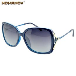 Cerniere a farfalla degli occhiali da sole online-NOMANOV = Oversized Fashion Butterfly Ladies Occhiali da sole polarizzati UV400 UV100 Delicato cerniera Shopping Party Vacation Sun Glasses1
