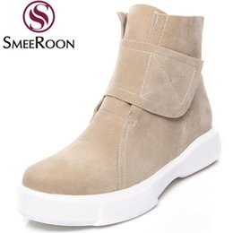 Zapatos de mujer del campus online-Smeeraon Youth Woman Shoes Redondo Toe Conveniente Botas de invierno Botas del tobillo Campus Moderno Skid Resistencia Casual Moda