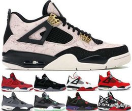Crescer sapatos on-line-Top 2020 New Jumpman Inverno Bred 4 4s tênis de basquete Silt Red Splatter O The Cool Grey Green Grow Mens Designer Sneakers US 7-13