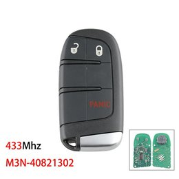 2021 bouton à distance 433mhz Touche Dodge JEEP 3 Button Toot Key 433MHz bouton à distance 433mhz pas cher