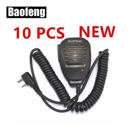 Microfone de dois sentidos on-line-10PCS BAOFENG Speaker Microphone para Ham Radio Two Way Walkie Talkie 888s UV5R GT3