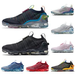 Corridori blu royal online-nike air vapormax airmax air max 2020 knitfly Top Sale Scarpe da corsa in maglia Pure Platinum da ginnastica nere Traspiranti Deep Royal Blue Mens Womens Sport Sneakers Runners