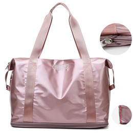 2021 grande sacchetto di palestra rosa Yoga Fitness Gym Borse Donna Rosa Grande viaggio Duffle Bag per le donne 2020 spalla Dry Wet Nuoto Weekend Blosa Sports Bag