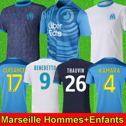 shirt football marseille Promotion 20 21 Maillot de foot Olympique De Marseille 2020 Maillot de foot OM Marseille 2021 CUISANCE LUIS HENRIQUE BENEDETTO KAMARA THAUVIN PAYET ÁLVARO soccer jersey