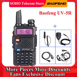 émetteur de talkie-walkie Promotion Baofeng UV-5R 5W Walkie Talkie Talkie VHF UHF Dual Band 128 CH Amateur Ham CB Deux Way Radio Station Transmetteur de chasse portable UV 5R