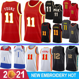 мужчины в чулках Скидка Ja 12 Morant NCAA College Men Jerseys Zion Trae 1 Williamson 11 Young 23 James Basketball Jerseys Stock S-XXL Hot 2021 New